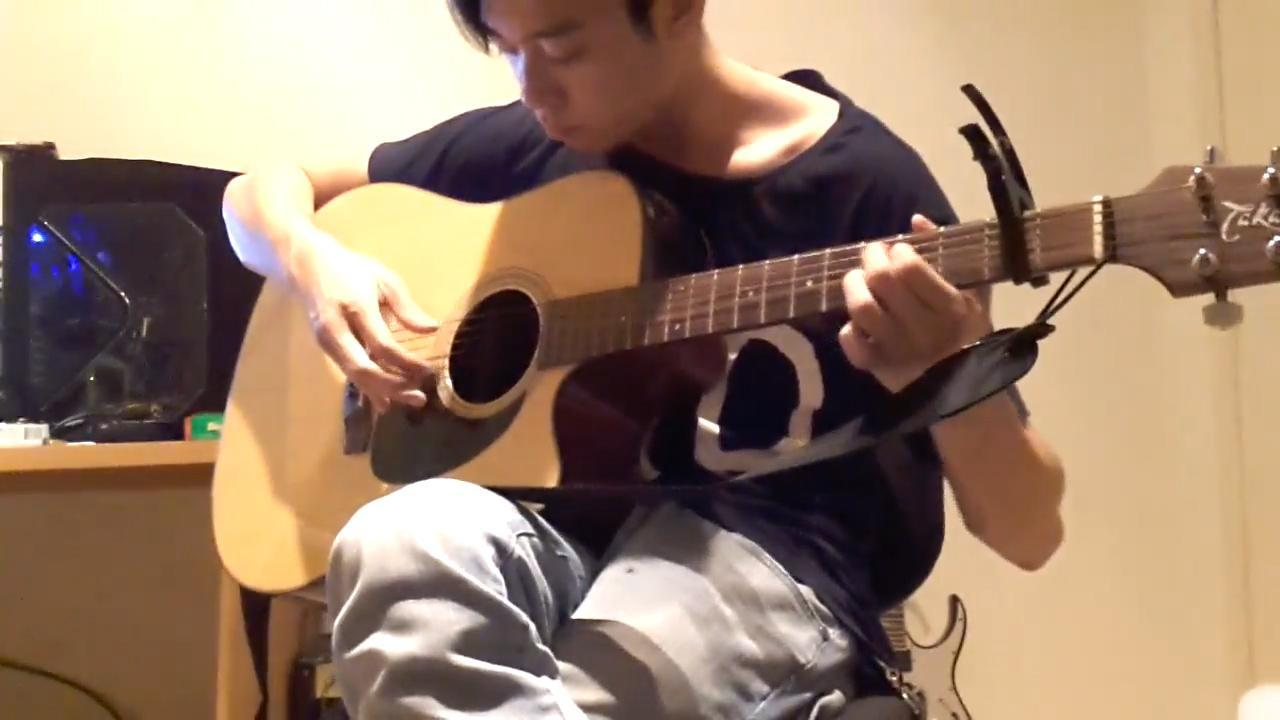 Jamie Gao playing guitar shortly before his murder