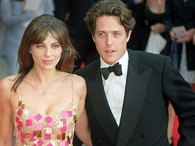 Hugh Grant and then girlfriend Elizabeth Hurley in 1999.