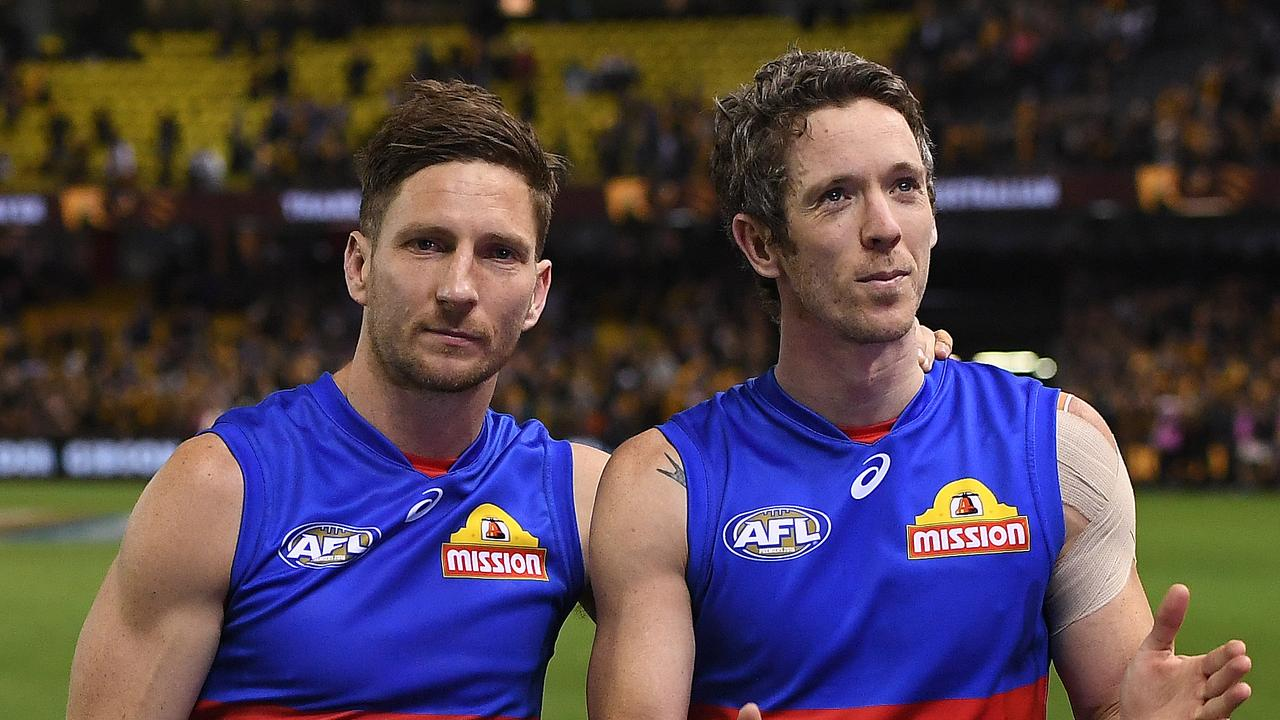 Matthew Boyd (left) gave plenty of advice for McAsey growing up. Photo: Julian Smith/AAP Image.