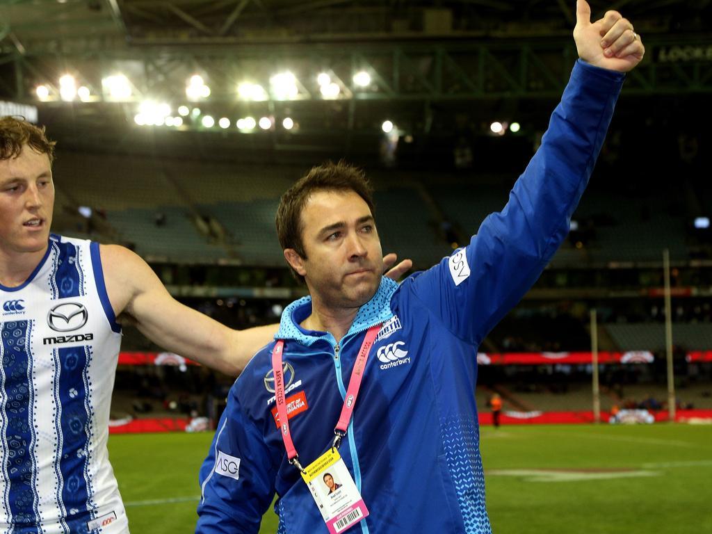 Former Kangaroos coach Brad Scott.