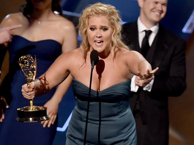 Funny lady ... Amy Schumer accepted the Outstanding Variety Sketch Series award for 'Inside Amy Schumer'. Picture: Kevin Winter/Getty Images/AFP