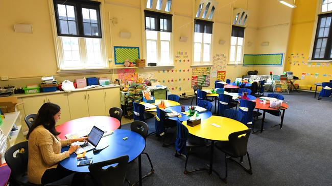 Teachers will be returning to empty classrooms in some schools around the country. Picture: AAP / James Ross
