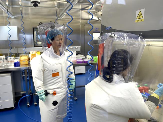 Virologists working at the Wuhan Institute of Virology. Picture: Feature China/Barcroft Media via Getty Images