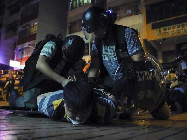 The protests began over a controversial China extradition bill. Picture: AP