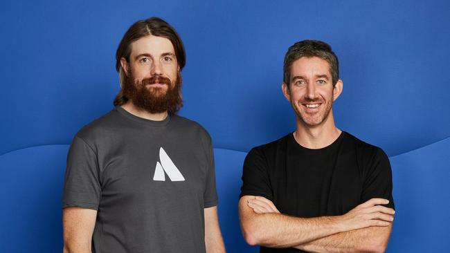 Atlassian co-founders Mike Cannon-Brookes (L) and Scott Farquhar (R), two of Australia's most successful tech entrepreneurs.