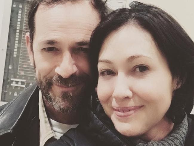 Shannen Doherty and the late Luke Perry. Picture: Instagram