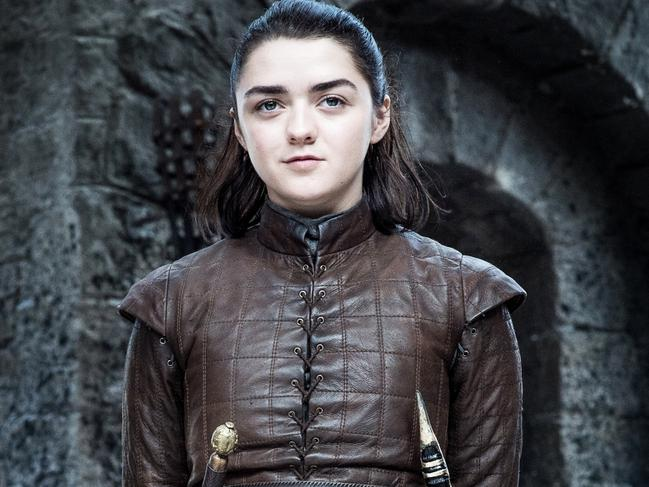 Maisie Williams in the final season of Game of Thrones. Picture: Foxtel/HBO