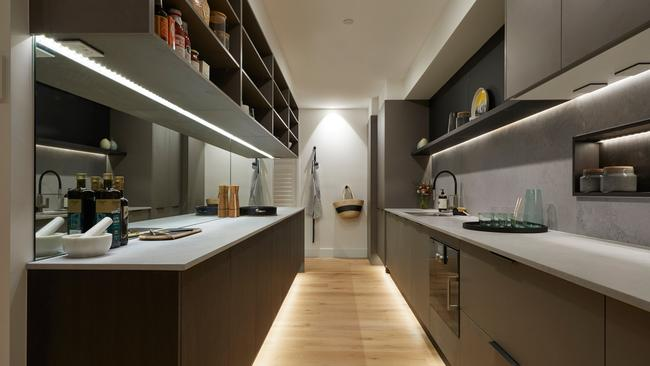 Kerrie and Spence's kitchen and butler's pantry won the kitchen week prize on The Block. Picture: supplied.