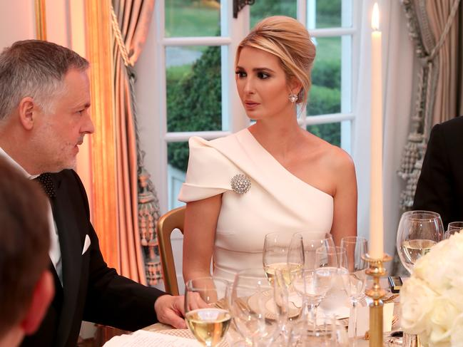 Mr Trump's daughter Ivanka at a dinner hosted by her father for the Prince of Wales and Duchess of Cornwall at the US ambassador's London residence of Winfield House. Picture: Chris Jackson - WPA Pool/Getty Images