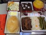"<p>""Beef, potato salad, bread, brownie with marshmallows. It was surprisingly tasty even though it was airline food,"" one tourist said of an Asiana Airlines meal / Flickr user Puck777</p>"
