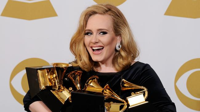 Adele, arguably the biggest musical act of the past decade. Picture: Kevork Djansezian/Getty