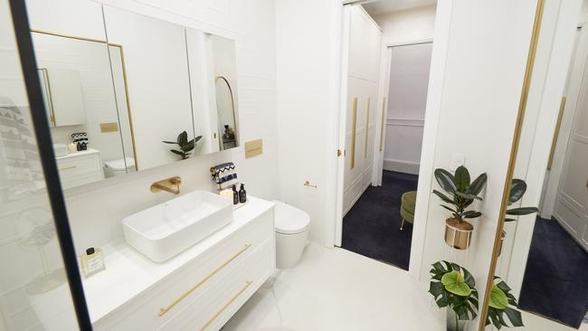 It does have that Hollywood glam vibe. Oh and there's the remote control toilet the judges were obsessing over. Picture: The Block/ Channel 9
