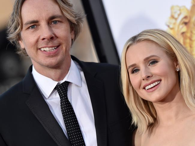 OK, there's a height difference here, but Kristen Bell and her husband Dax Shepard have pretty similar features. Picture: Axelle/Bauer-Griffin/FilmMagic