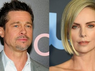 Brad and Charlize. You know it makes sense. Souce: Getty Images