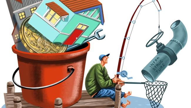 Diversify your investments to reduce risk. Illustration: John Tiedemann