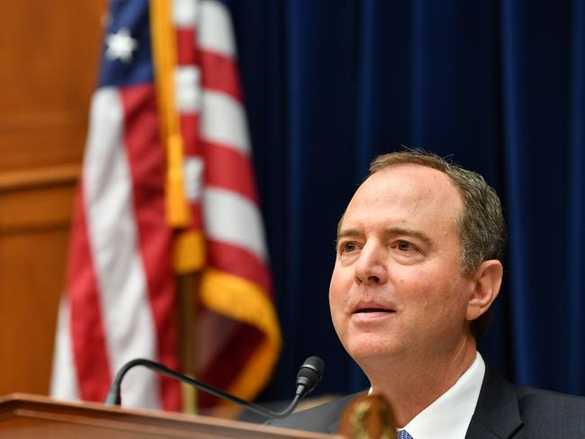 US Committee chairman Adam Schiff drew the ire of Mr Trump when he parodied his call to Ukraine by giving him a mafia boss type accent. Picture: AFP