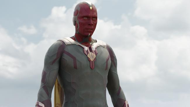 Paul Bettany as Vision in Marvel's Captain America: Civil War.