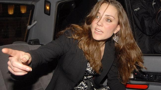 Kate leaving Bouji nightclub in London in April 2008. Picture: REX/Shutterstock