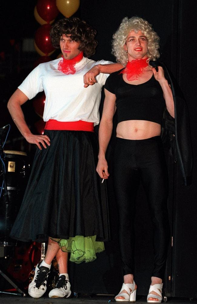 Adelaide's Matthew Robran and Kym Koster perform songs from  <i>Grease</i>.