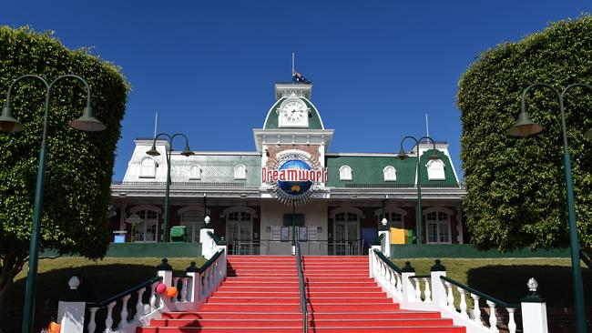 General view of the entrance to the Dreamworld theme park on the Gold Coast. Picture: Dave Hunt/AAP