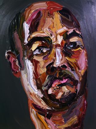 'Self Portrait 72 hours just started' by Myuran Sukumaran. Picture: Adam Taylor