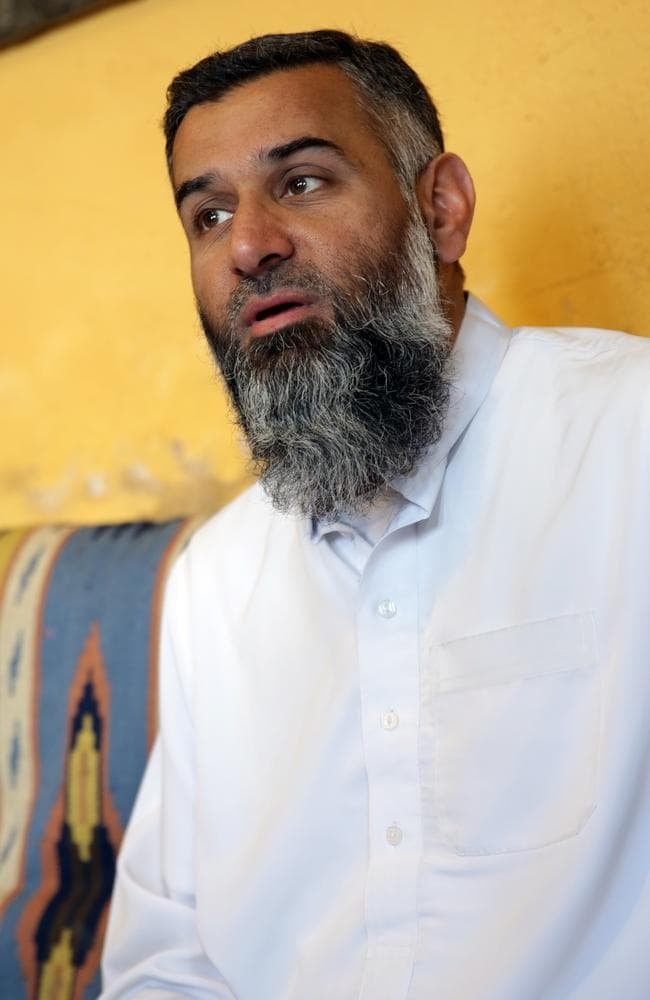 Released from custody ... social and political activist Anjem Choudary in East London. Picture: Ella Pellegrini