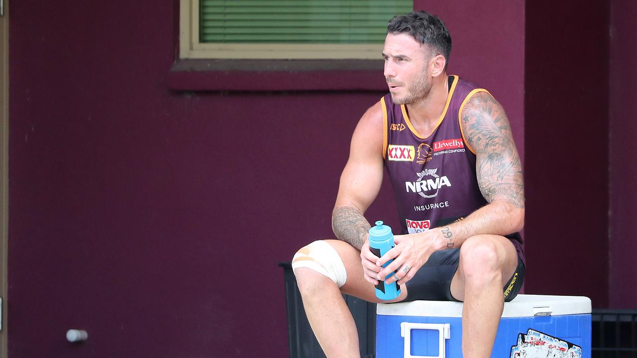 Darius Boyd left the field injured after Monday's training session.