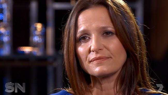 """""""I know he's in a lot of pain,"""" Maylea Tinecheff tells Sunday Night. Picture: Channel 7"""