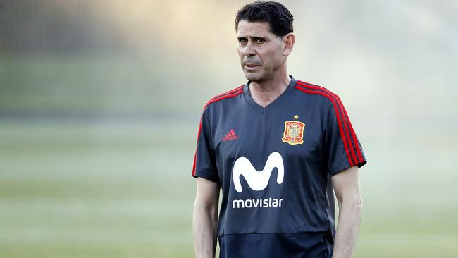 Fernando Hierro is in charge of Spain in Russia. Picture: Getty Images.