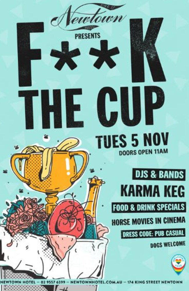 An anti Cup event is to be held at Sydney's Newtown Hotel.