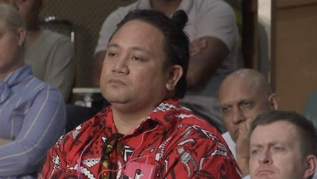 """Man in red"": The audience member asked the thorny question of where would Pacific Islanders go once their countries were submerged by rising seawaters."