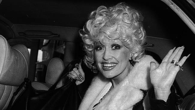 Dolly Parton in Melbourne in 1979.