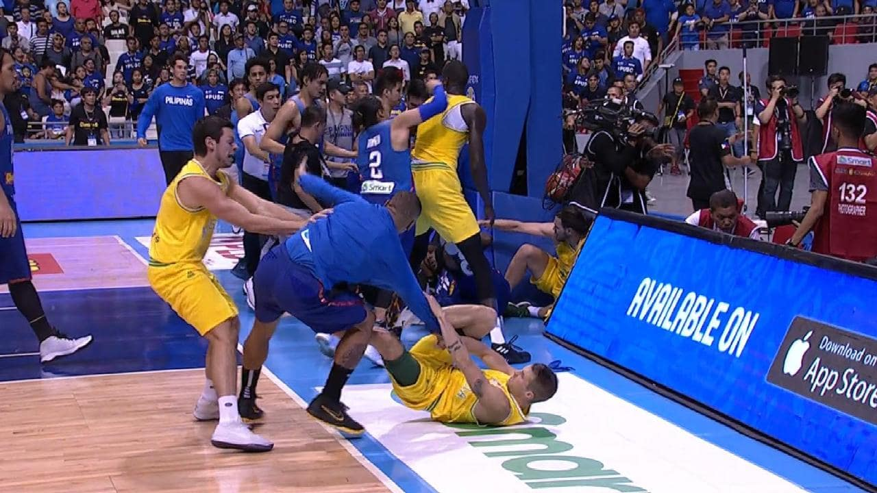 Australia vs the Philippines got out of hand.