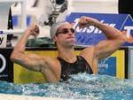 2008 Telstra Australian Swimming Championships at Sydney Olympic Park Aquatic Centre. Eamon Sullivan breaks world record to win the 50m Freestyle Final.