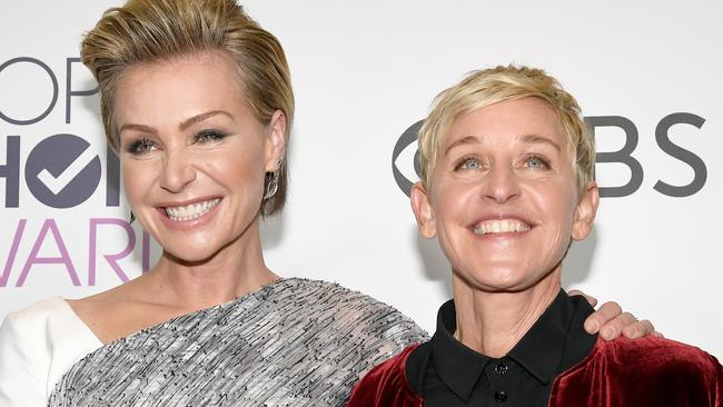 Ellen and Portia may be part of a string of targeted celebrity burglaries. Picture: Getty Images.
