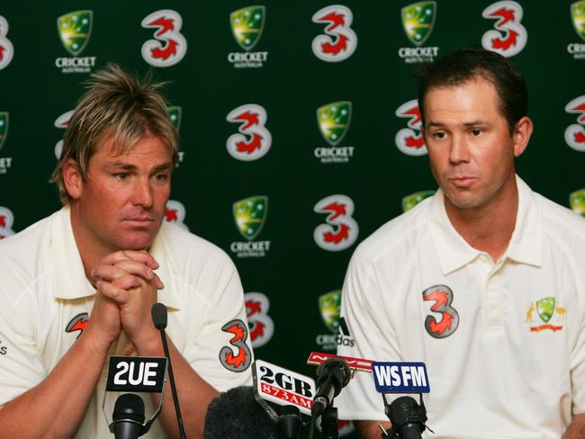 Bowler Shane Warne and Ricky Ponting went through everything together.