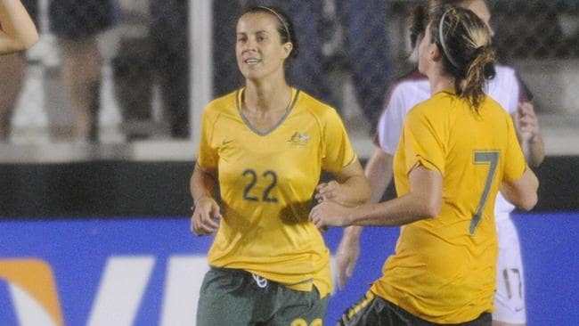Selin Kuralay in action for the Matildas in 2008. Picture: Getty Images