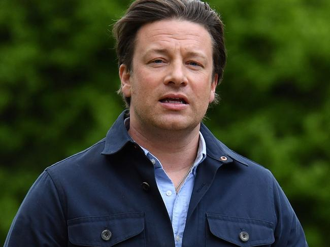 British celebrity TV chef Jamie Oliver's restaurant group employing 1300 staff has collapsed. Picture: AFP