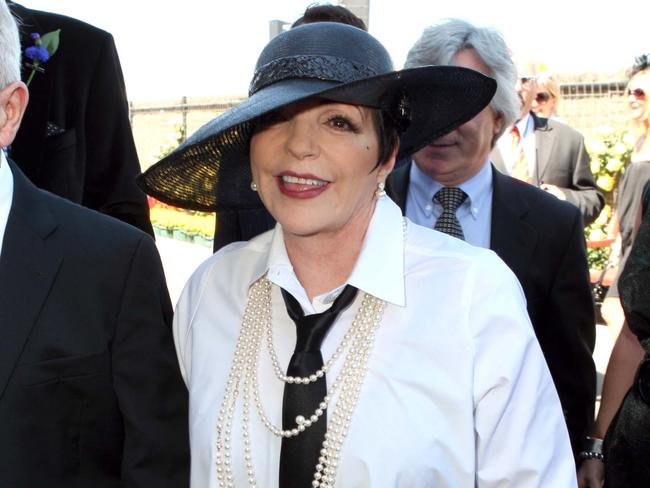Singer Liza Minnelli at the 2009 AAMI Victoria Derby Day at Flemington Racecourse.