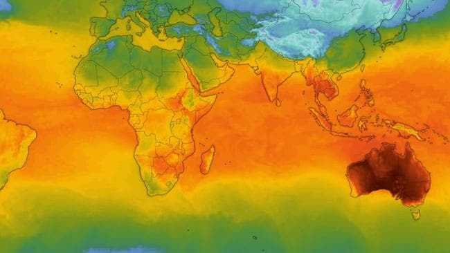 World weather map a worry for Australia