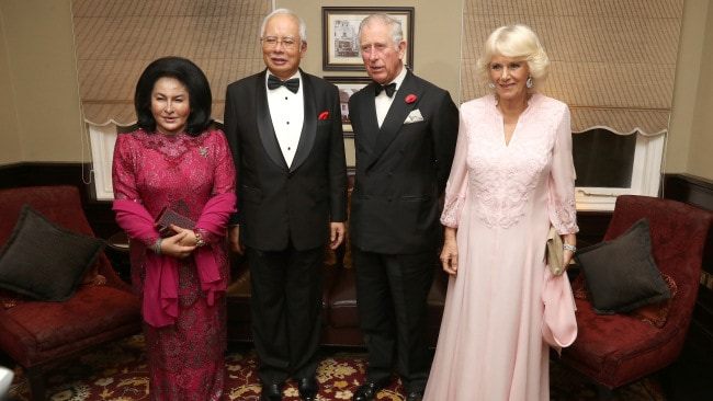 Rosmah and her husband with Charles and Camilla. (Photo by Chris Jackson - Pool/Getty Images)