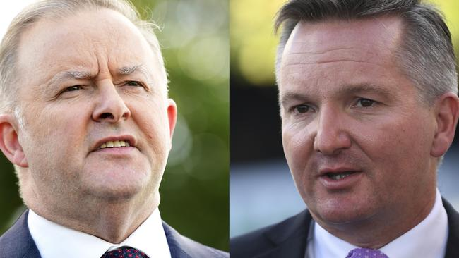Anthony Albanese and Chris Bowen are in the running for the Labor leadership. Picture: Image/Lukas Coch