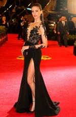 2014 - Rachael Finch wearing Paolo Sebastian on the red carpet during the arrivals for the 2014 AFL Brownlow Medal Picture: Tim Carrafa