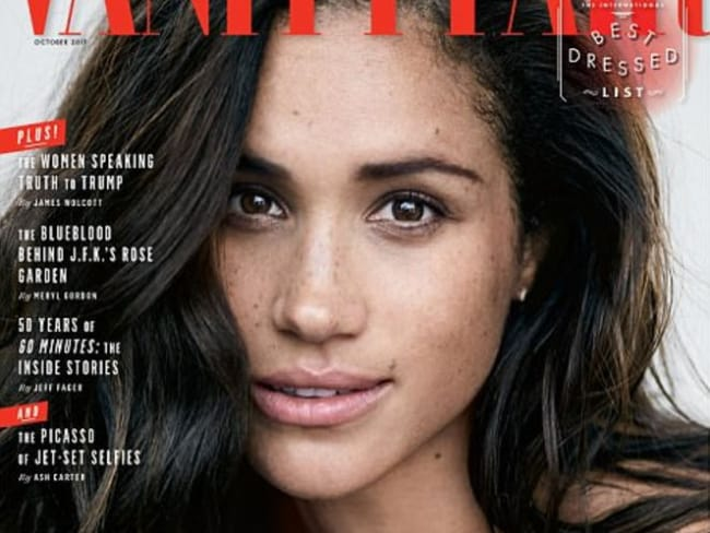 Meghan Markle has told Vanity Fair she is in love with Prince Harry.