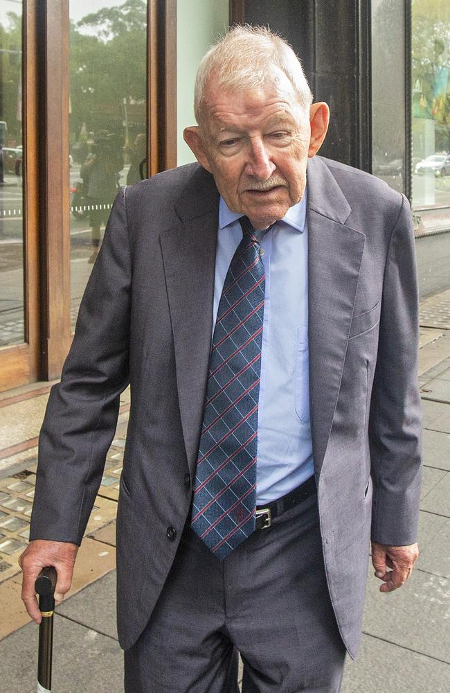 Multi-millionaire corporate knight Sir Ron Brierley is on bail on child pornography charges. Picture: Jenny Evans