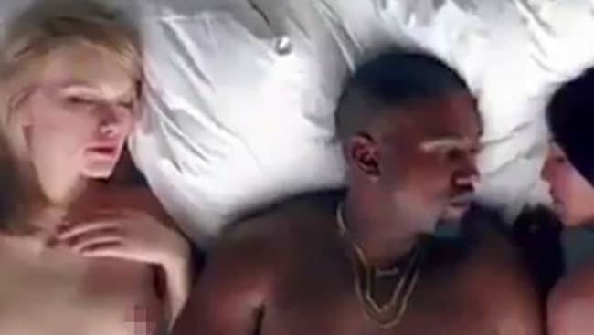 Kanye West Uses A Naked Taylor Swift Lookalike In Famous -5190