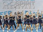 Sorell Spirit Storm competing at the Infinite Spirit Tasmania Cheer and Dance Championships at Kingborough Sports Centre. Picture: LUKE BOWDEN