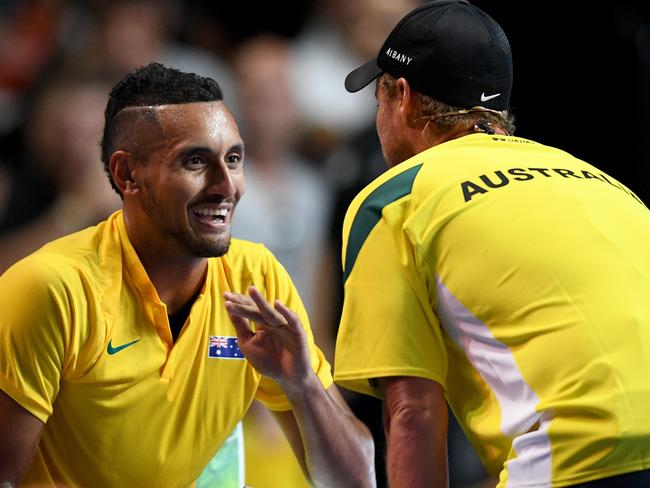 Is Lleyton Hewitt too close to Nick Kyrgios to objectively call his matches?