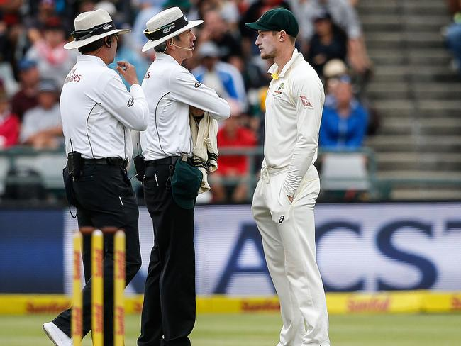 Cameron Bancroft was caught in the act.