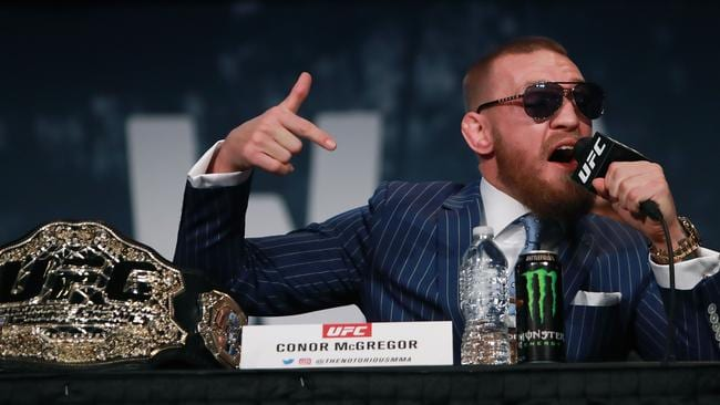 Conor McGregor at the UFC 205 press conference.